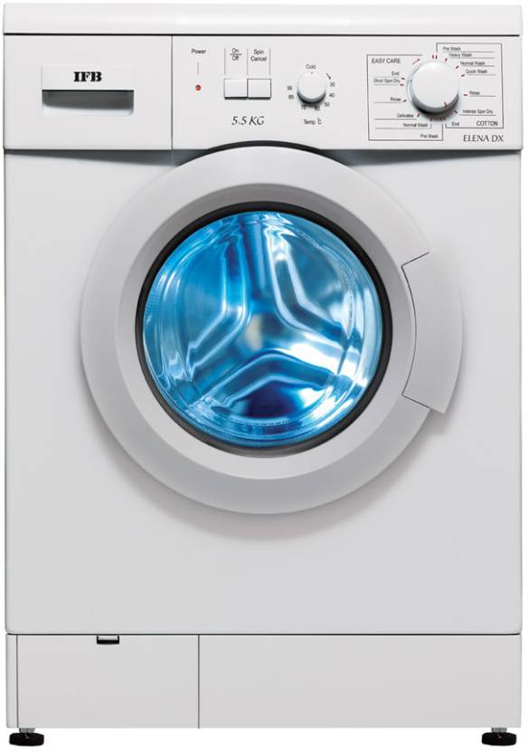 ifb elena dx automatic 5 5 kg washer dryer (white)