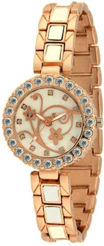 COSMIC Timiho Series White Dial With Stunning Rose Gold Color ajha126 Analog Watch  - For Women