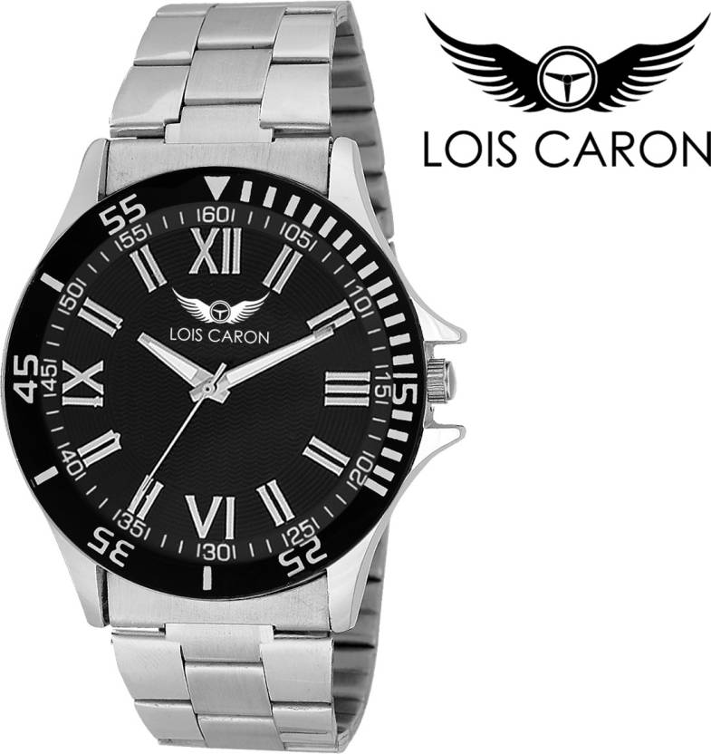 Lois Caron LCK-4059 BLACK ROMAN ROMAN DIAL Watch - For Men