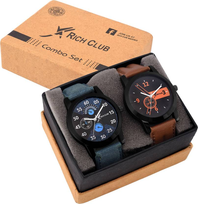 Rich Club Set Of Two Combo Watch - For Men
