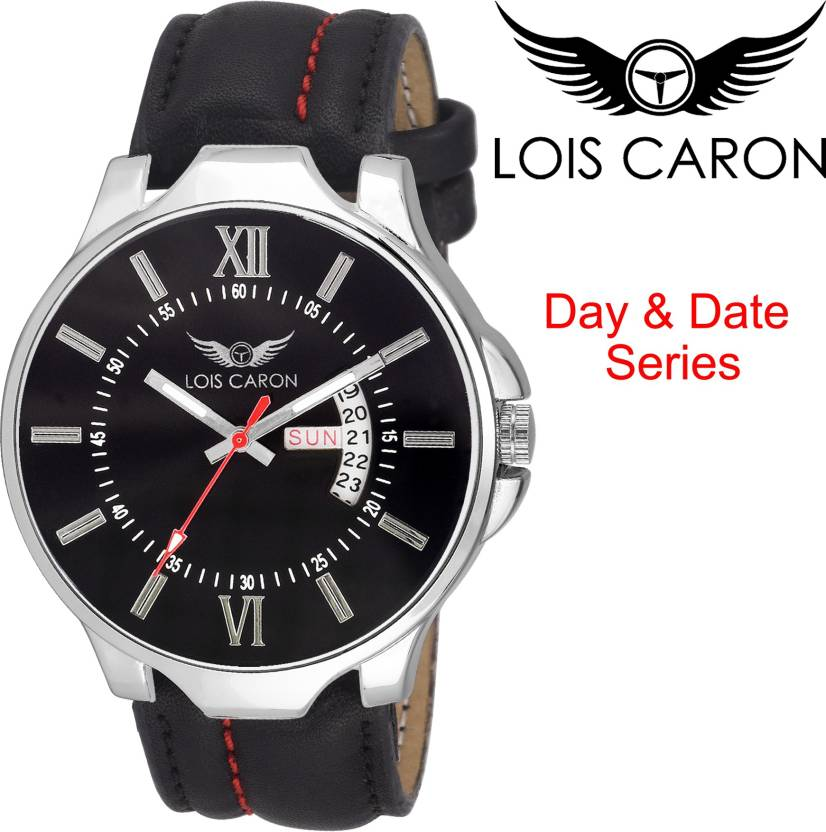 Lois Caron LCS-4119 BLACK DAY & DATE DAY & DATE FUNCTIONING Watch - For Men