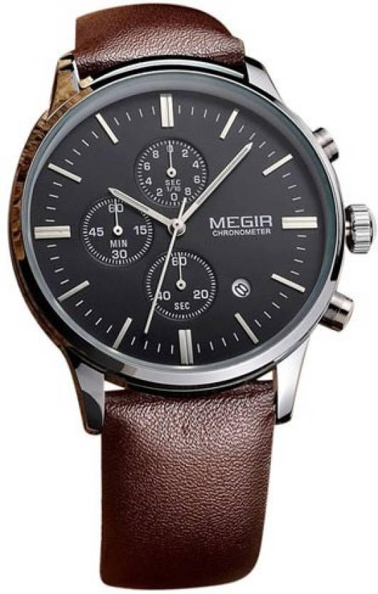 2960dca033285 Megir 2011-BLK-SLV Watch - For Men - Buy Megir 2011-BLK-SLV Watch - For Men  2011-BLK-SLV Online at Best Prices in India