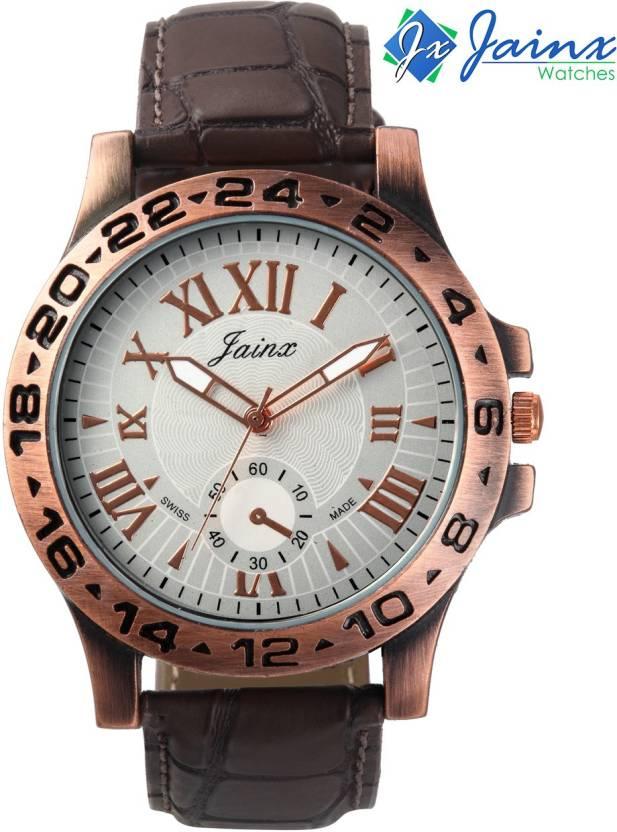 Jainx JM183 White Dial Analog Watch - For Men