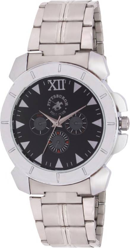 Pittsburgh Polo Club PBPC-539-SS-BLK Analog Watch  - For Men