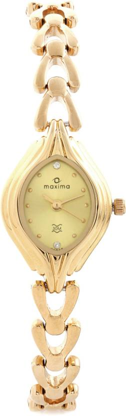 Maxima 04886BMLY Gold Watch - For Women