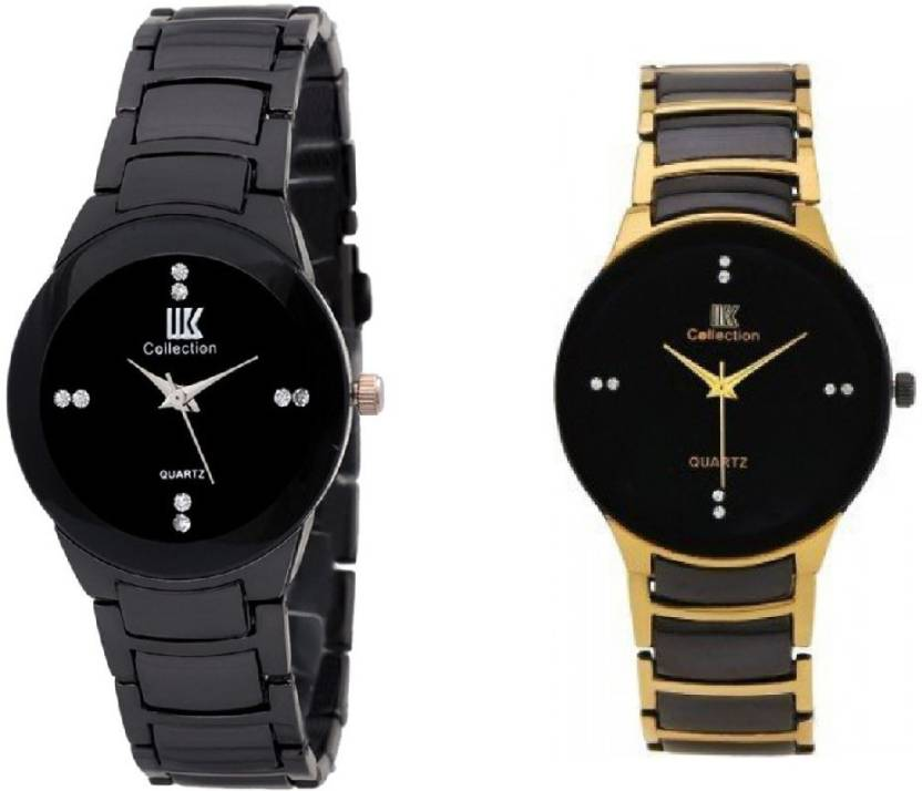 1bec033bbc3 IIK Collection Black-Gold-Wrist Watch - For Couple - Buy IIK Collection  Black-Gold-Wrist Watch - For Couple Black-Gold-Wrist Online at Best Prices  in India ...