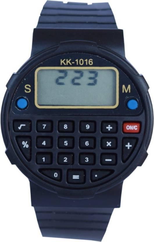 creator calculator kk 1016 round dial watch for men women buy