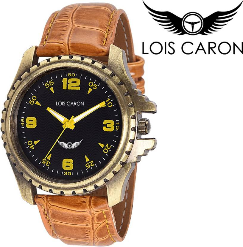 Lois Caron Lck-4039 Stylish Tan Analog Watch  - For Men