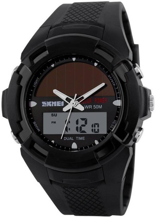 6a063cc77bd Skmei 1056BLK Solar Watch - For Men & Women - Buy Skmei 1056BLK Solar Watch  - For Men & Women 1056BLK Online at Best Prices in India | Flipkart.com