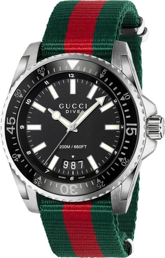be950d8446d GUCCI YA136206 Dive Watch - For Men - Buy GUCCI YA136206 Dive Watch - For  Men YA136206 Online at Best Prices in India