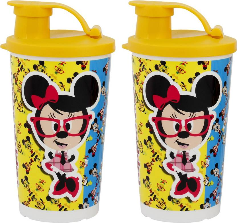 Tupperware Disney 330 ml Water Bottles Set of 2, Multicolor
