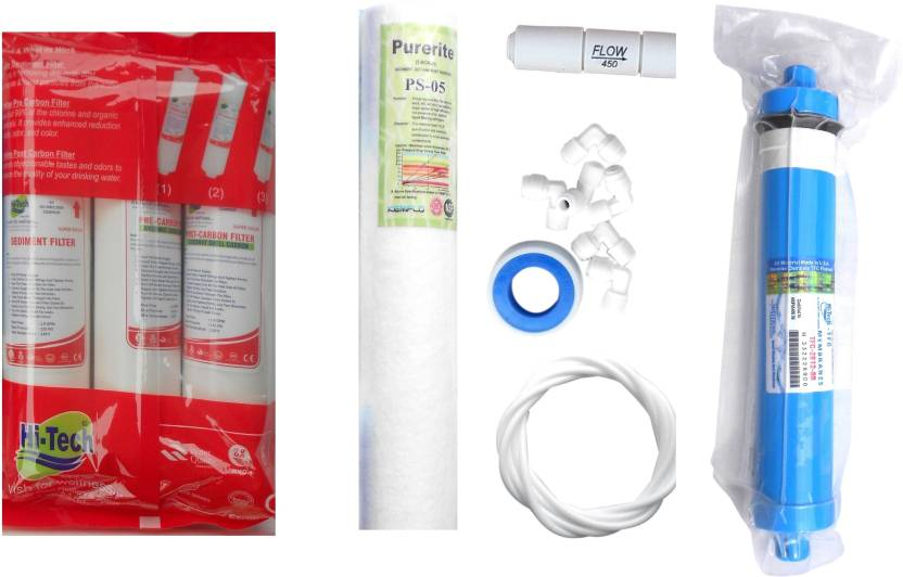 aca03ac51 Hi Tech 1 year RO Service kit with 80 GPD membrane