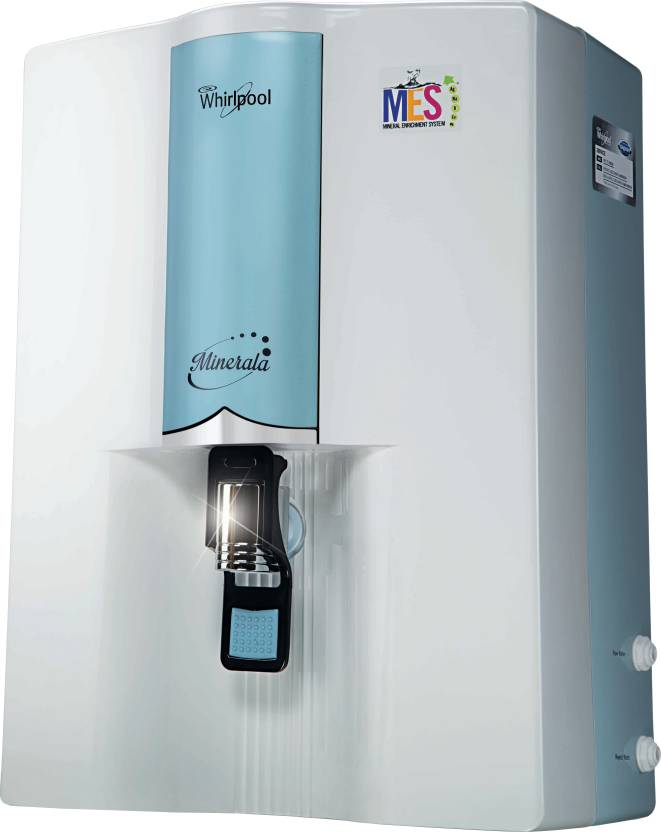 Upto 35% Off on Water Purifiers from Kent & more By Flipkart | Whirlpool Minerala 90 Classic 8.5 L RO Water Purifier  (Blue) @ Rs.9,999