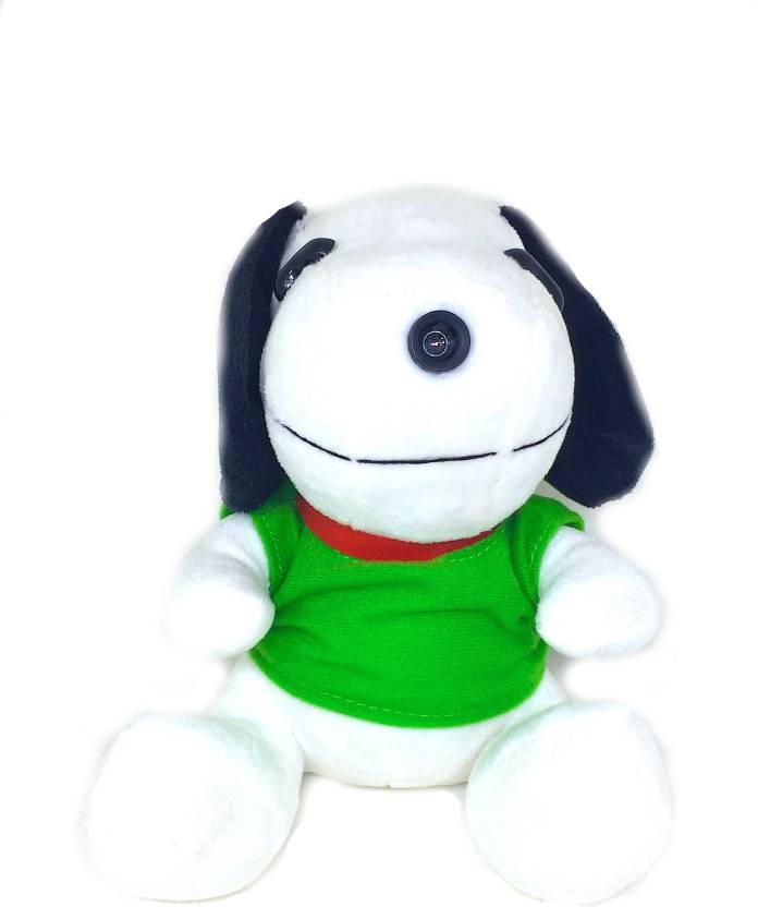Shrih Plush Toy Snoopy In green Tshirt USB 2.0 10M HD Camera  Web...