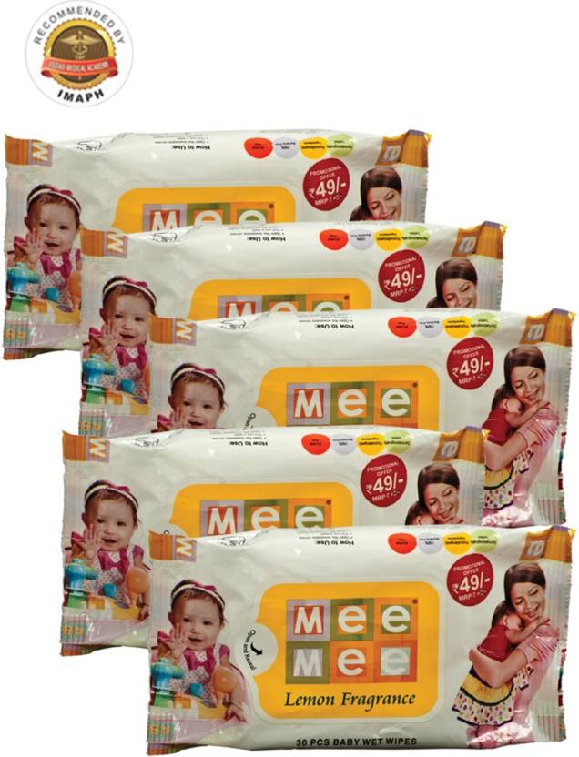 MeeMee Baby Wet Wipes Pack of 5