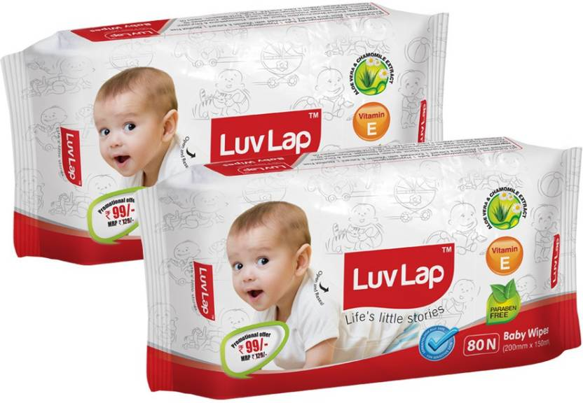 LuvLap Paraben Free Baby Wet Wipes with Aloe Vera