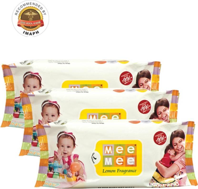 MeeMee Baby Wet Wipes Pack of 3