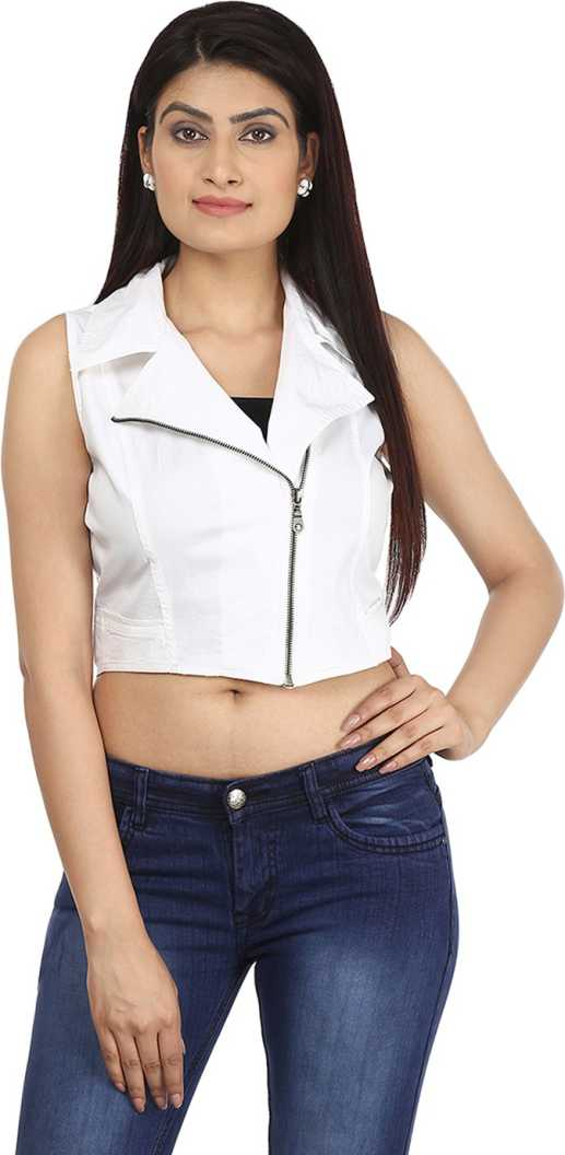 Eves Pret A Porter Sleeveless Solid Women Jacket