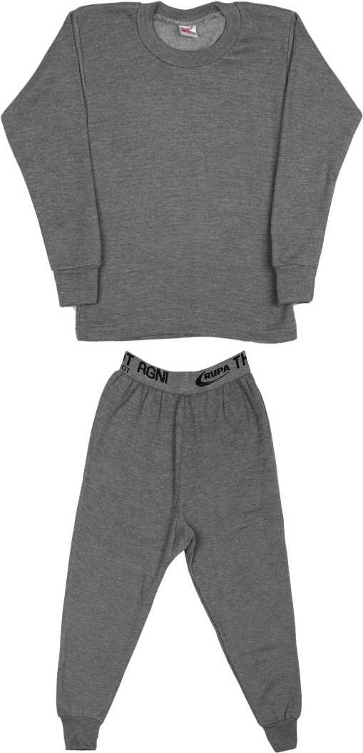 [Size 8 – 9YRS] Rupa ThermocotTop – Pyjama Set For Boys(Grey, Pack of 1)