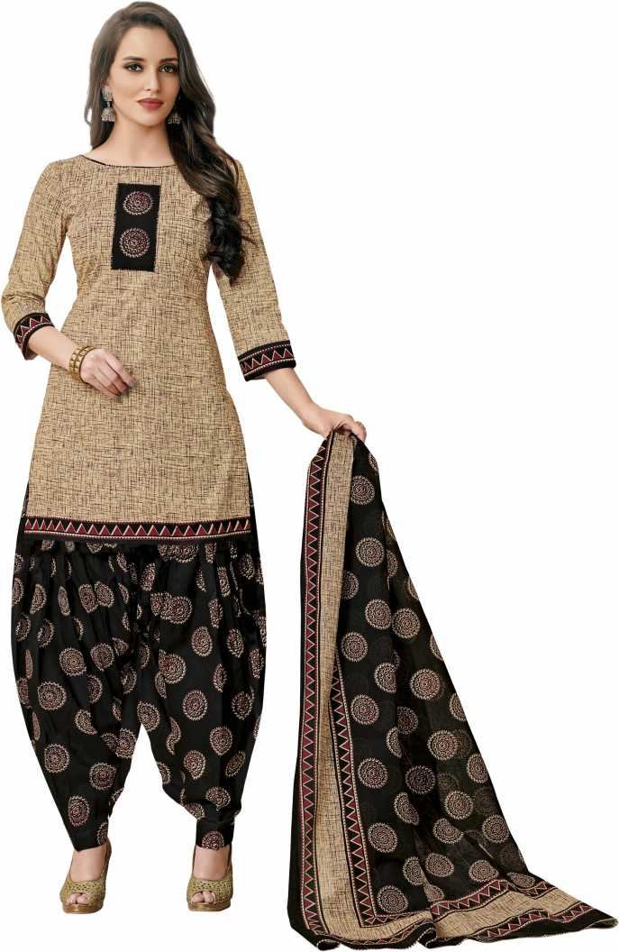 Reya Cotton Blend Printed Salwar Suit Material   Unstitched  Reya Women's Dress Materials