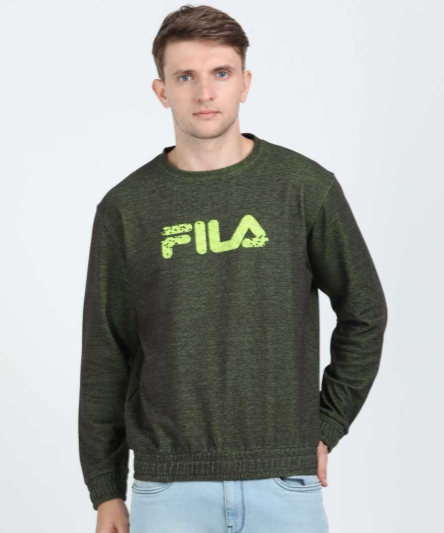 Fila Full Sleeve Self Design Men Sweatshirt