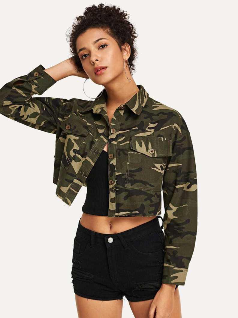 KottyFull Sleeve Printed Women Denim Jacket