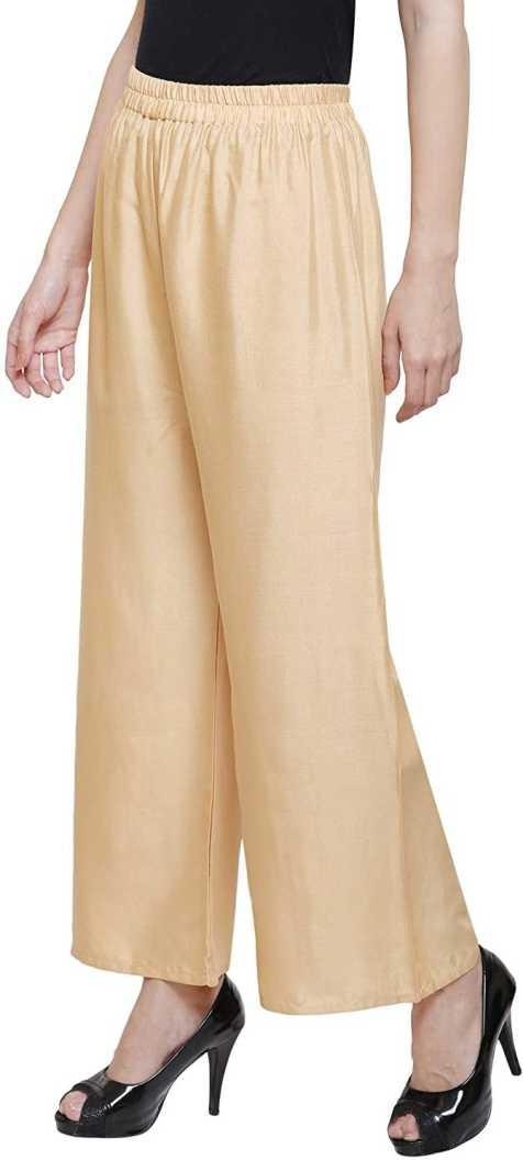 SNAYATIRegular Fit Women Beige Rayon Trousers