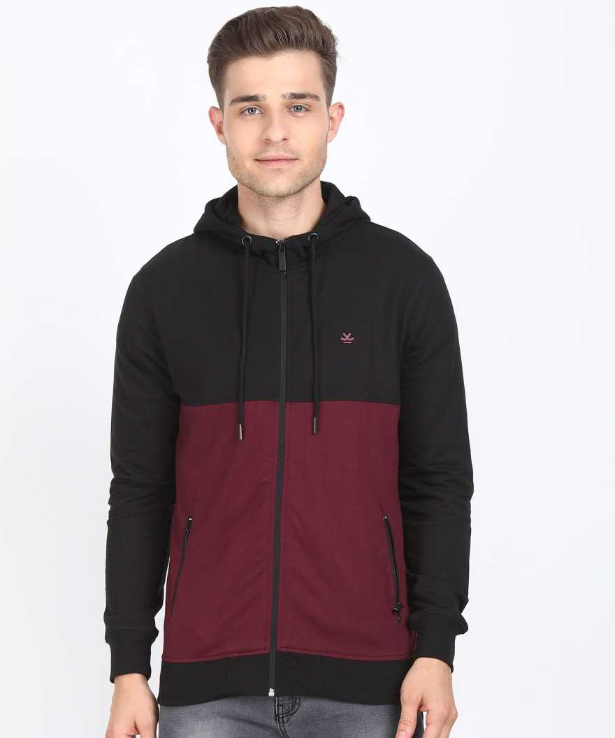 WROGNFull Sleeve Color Block Men Sweatshirt
