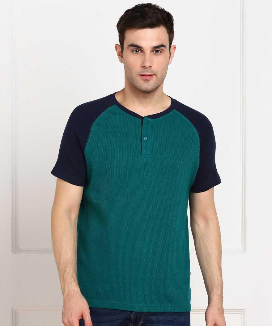 Billion Color Block Men Henley Neck Multicolor T Shirt