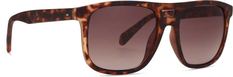 FOSSILOthers Rectangular Sunglasses (54)(For Men, Brown)