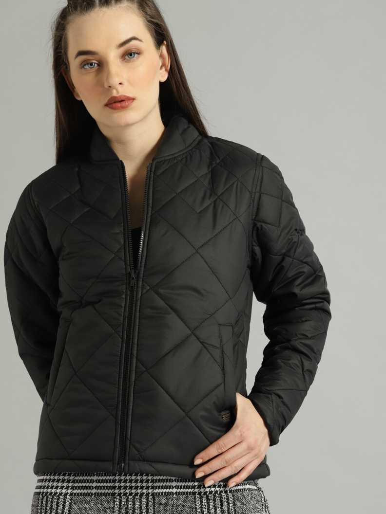 [Size L, XL] RoadsterFull Sleeve Solid Women Quilted Jacket