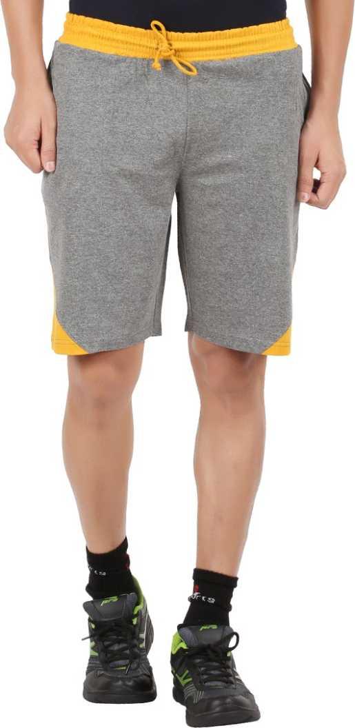 CHECKERSBAYSolid Men Grey Sports Shorts