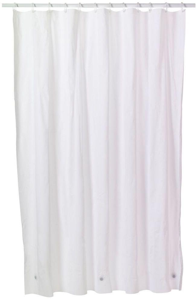 Lithara 24384 Cm 8 Ft PVC Shower Curtain Single CurtainPlain Transparent