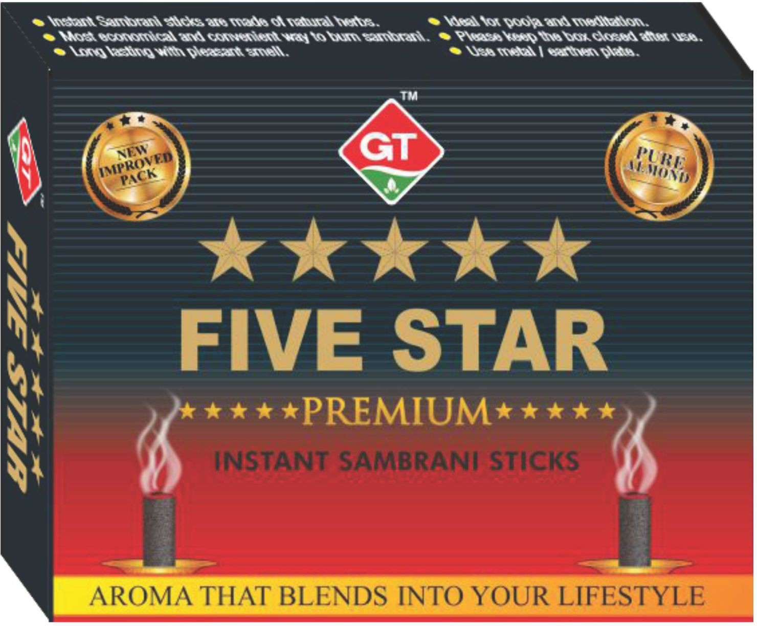 Gt 8906065840198 Five Star Premium Instant Sambrani Sticks - Best