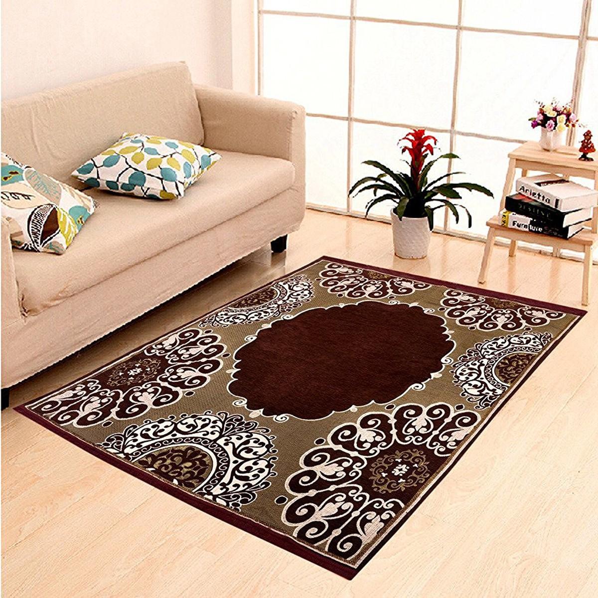 IWS Multicolor Chenille Carpet(152 cm  X 214 cm)