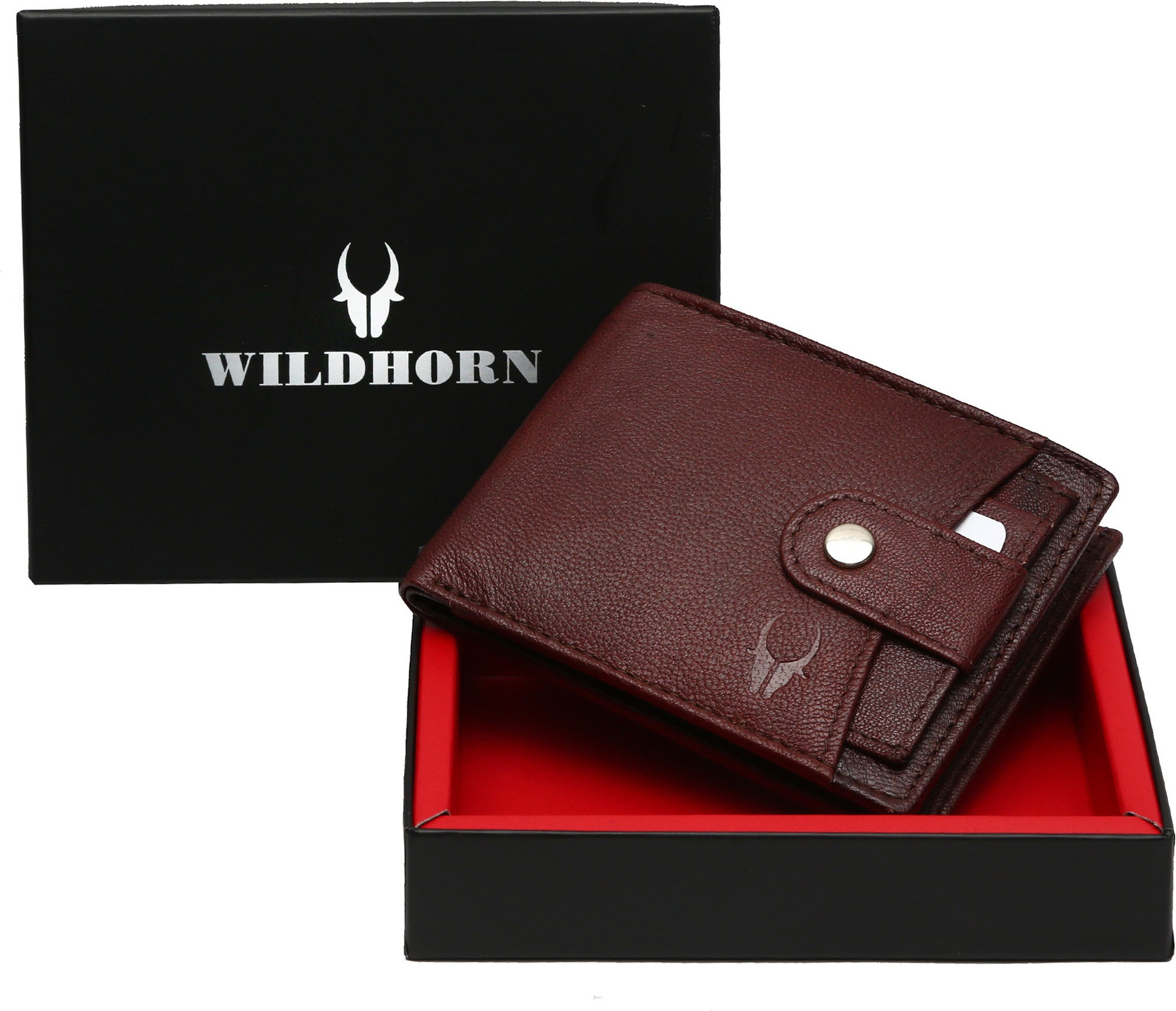 WildHorn Men Casual, Trendy Brown Genuine Leather Wallet (6 Card Slots)