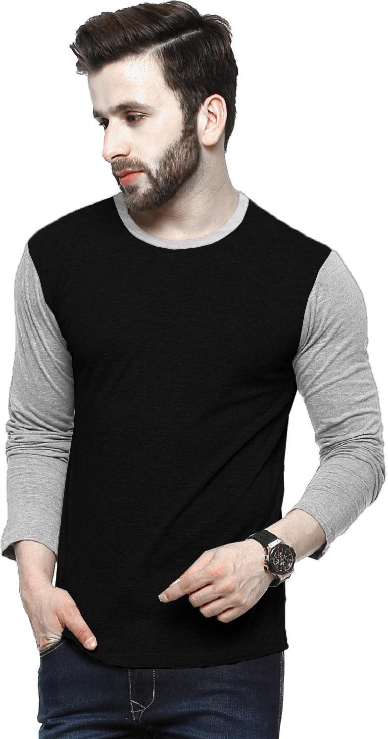 Tripr Solid Men Round Neck Black T-Shirt