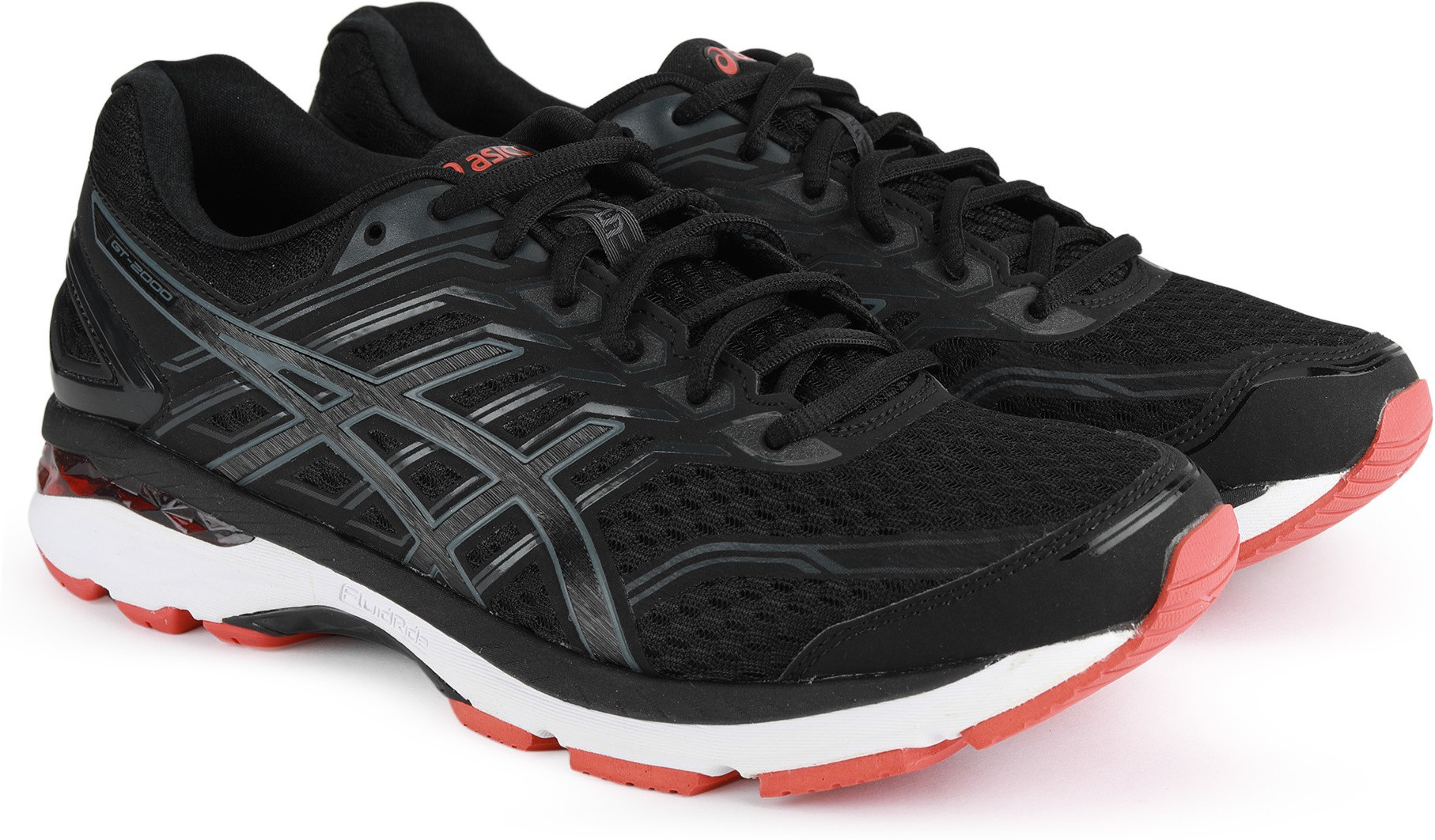Asics GT-2000 5 Running Shoes For Men (Black, Grey)