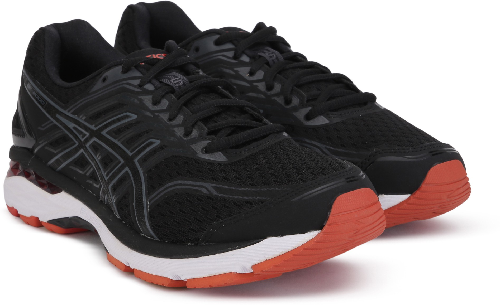 Asics GT-2000 5 (2E) Running Shoes For Men (Black, Grey)