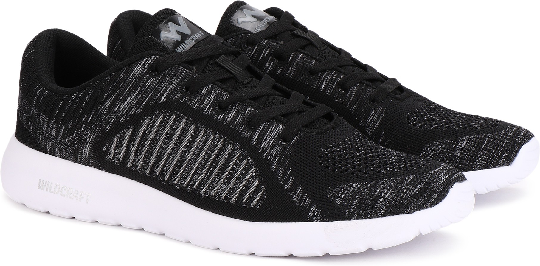 Wildcraft Beckon Knit Running Shoes For Men (Black, Grey)