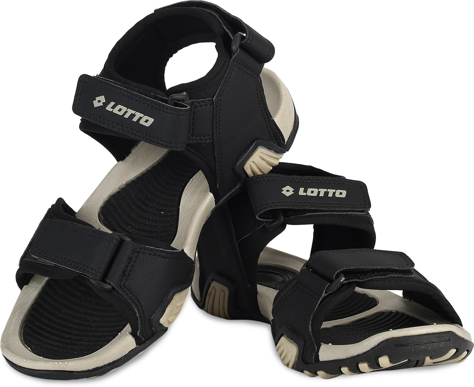 Men BLACK/BEIGE Sports Sandals
