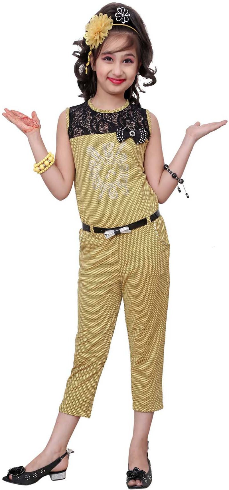 fc1c7d5de8fd Aarika c-133-yellow Girls Party Wear Jumpsuit - Best Price in India ...