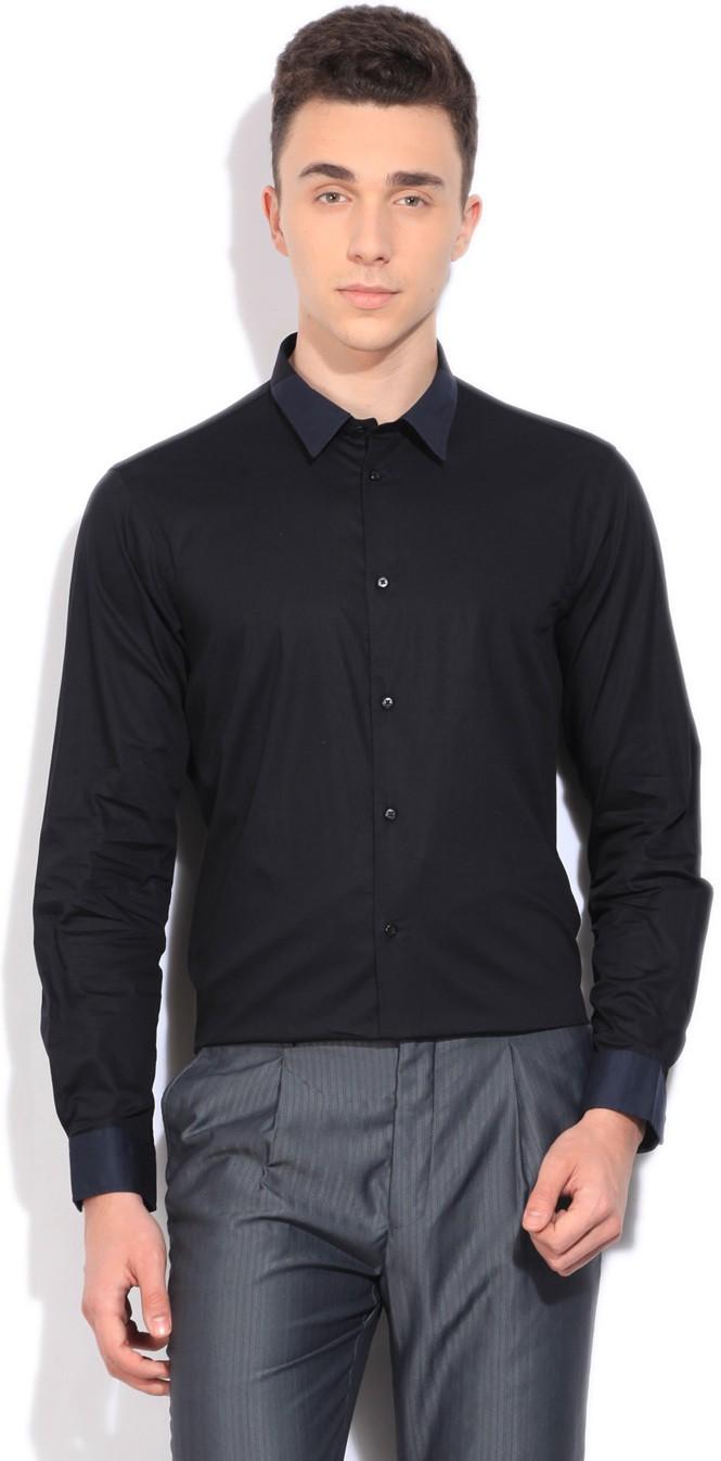 04141d908f2 Arrow asqy5038 New York Blue Slim Fit Smart Casual Shirt - Best ...
