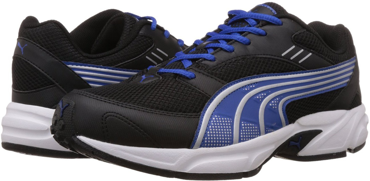 c991df1c47f912 Puma 4055263516214 Mens Pluto Dp Black Strong Blue Silver Running Shoes 8 Uk-  Price in India