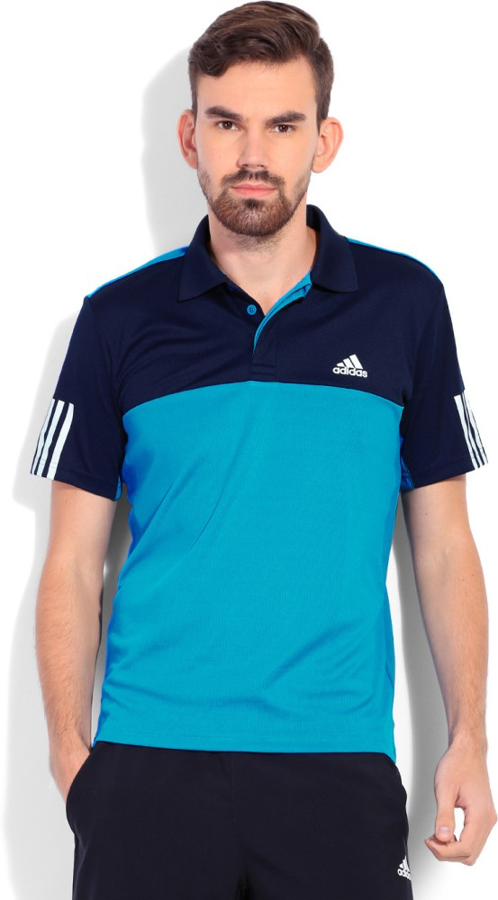 d55bfdad Adidas s15337 Men Blue Rsp Trad Climacool Tennis Polo T Shirt - Best ...