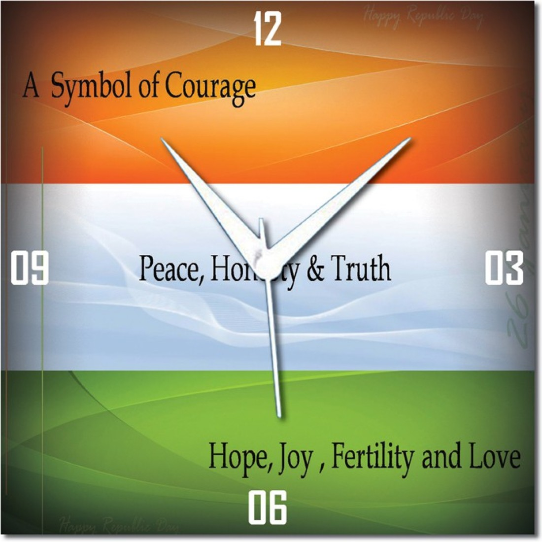 Webplaza W152e848bwl Indian Flag Color Meaning Republic Day Analog