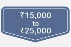 ₹15,000 to ₹25,000