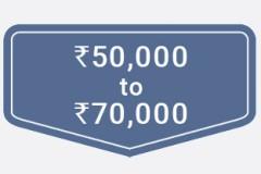 ₹50,000 to ₹70,000
