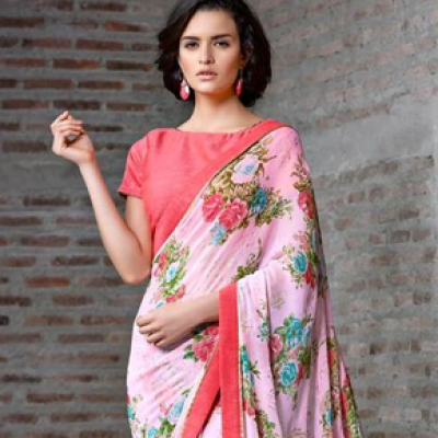 Pink Casual Saree