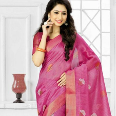 Ethnic Pink Saree